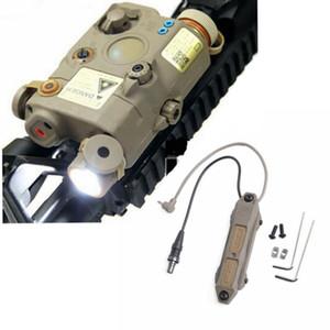 전술 Airsoft LA PEQ15 빨간 점 손전등 PEQ 빨간 레이저 원격 스위치 압력 빛 더블 제어
