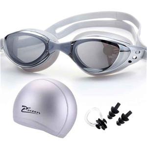Lunettes de natation Myopia Professional Adultes Piscine Capuchon étanche Bouchon d'oreille piscina natacion Lunettes de plongée Diopter Swim Eyewear