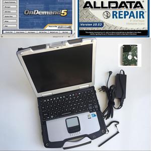Otomatik tamir ile CF30 dizüstü CF-30 Toughbook 4g Tüm veri mitch * ll 1 TB HDD software yüklü Alldata 10.53 Mitch * ll ond * mend 5