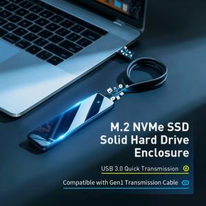 Nuevo producto M2 SSD Caso M.2 a USB 3.0 Tipo C NVMe recinto Disco Duro SSD para PCIE NVMe NGFF SATA M / B CLAVE SSD disco Box Ca