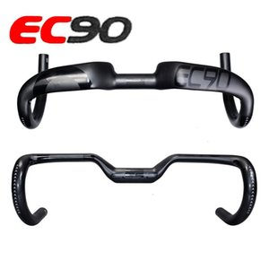 2017 new ec90 carbon fiber highway bicycle thighed handle carbon handlebar road bike handlebar 400 420 440MM
