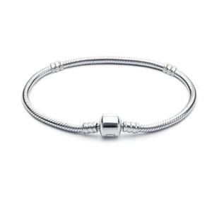 1pcs trasporto di goccia placcati argento del serpente Bracciali donne catena di perline fascino per Pandora braccialetto regalo dei bambini Bracciale