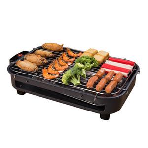 Multi-funzione elettrica all'ingrosso Grill elettrica domestica cottura Piastra senza fumo Ferro bbq piastra barbecue Rack cucina Troppo