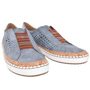MoneRffi Frauen Slip-On Sneakers Sneaker Frauen Freizeitschuhe Geox Frauen-Wohnungen Tenis Feminino Zapatos De Mujer