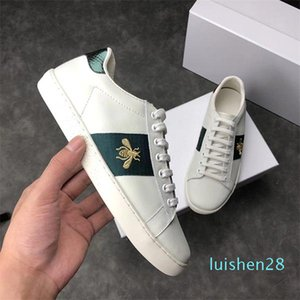 Luxury Italy Bee Green Red Stripes Men Women Sneaker Casual Shoes Cheap Trendy Ace Fashion Designer Walking Trainers Chaussures AF14