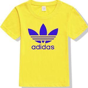 Мальчики и девочки футболка с коротким рукавом летом 2020 новая детская полурукав письмо шаблон печати хлопка большой мальчик прилив A04
