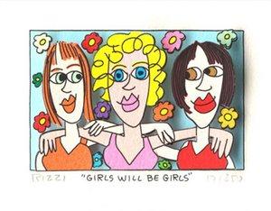 Джеймс Рицци - ДЕВУШКИ БУДЕТ GIRLS Home Decor расписанную HD Печать Картина маслом на холсте Wall Art Canvas картинки 191221