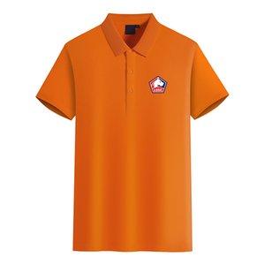 Lille Olympique Football Club Logo Herrenmode Golf-Polo-T-Shirt Herren Kurzarm-Polo-T-Shirt