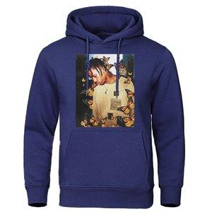 2019 الخريف الشتاء الرجال هوديس ترافيس ScoButterfly أزياء رياضية تأثير موسيقى الراب وبلوزات الرجل البلوز القمم الهيب هوب
