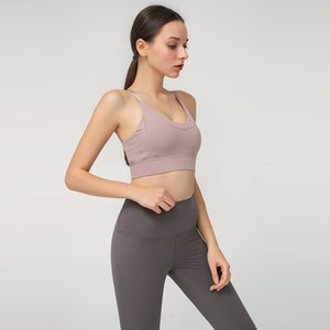 2020 Wholesale Sports Bra Beauty Back Yoga Top Womens Gym Clothing Fitness Camisole Sports Bra (Set)