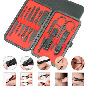 Meisha 10Pcs / Set Ongles Clipper Outils Pédicure Manucure Ciseaux Cuticules Pinces Poussoirs Nipper Tweezer Picker Kit Nail Art Kits HE0009