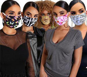Designer Maschera antipolvere ultravioletta a prova di Bocca-muffola faccia Donne Uomini Maschere di lusso Lettera Stampa Marca Protector lavabile Maschera vendita