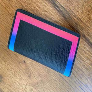 portafoglio di alta qualità colorato supporto della borsa di modo del raccoglitore della carta dell'arcobaleno signora box donne originali classica cerniera tre stili