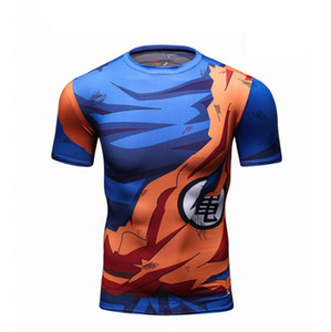 Dragon Ball T Shirt Men Verão Dragon Ball Z Super Son Goku Slim Fit Cosplay 3D Camisetas anime vegeta DragonBall camiseta Homme