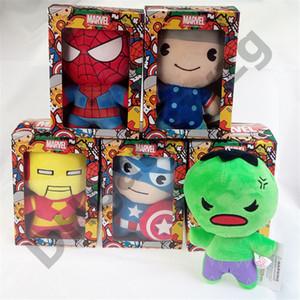Marvel Stuffed boneca 10cm / 20cm de alta qualidade The Avengers Boneca Plush Toys Os melhores presentes para crianças Brinquedos