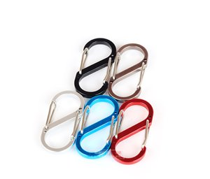 Aluminum Carabiner D-Ring Key Chain Clip Camping Keyring Snap Hook Outdoor Travel Kit Outdoor Hanging Buckle Climbing Buckle