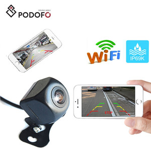Podofo Wireless Car Rear View Camera WIFI Cámara de marcha atrás Dash Cam HD Night Vision Mini Body Tacógrafo para iPhone y Android