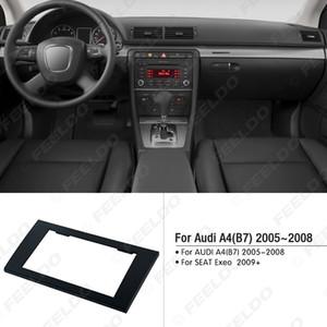 Araba 2DIN Radyo Stereo Fasya Trim Paneli Çerçeve Montaj Montaj Adaptörü Adaptörü Için AUDI A4 (B7) 2005-2008 / KOLTUK Exeo 2009 + # 5037