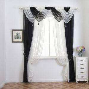 Ouneed 1PC 45 * 45 centímetros Modern Voile Cortina Swags Todas as Cores Pelmet Valance Net cortinas Voile Ganhos