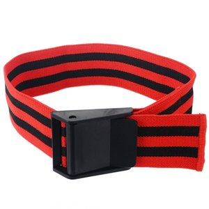 1 Bands Coppia occlusione del flusso sanguigno rosso Bande di restrizione BFR Tourniquet formazione bicipiti Bands polsi di potenza
