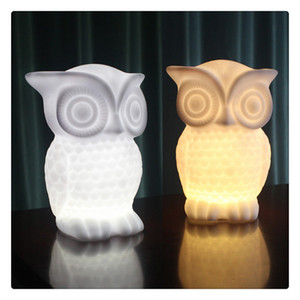 1 Вт LED Night Light Baby Сова Форма Белый Теплый Белый Свет ПВХ Настольная Лампа Крытый Декоративный Ночник для Детская Комната Партия Декор Моды