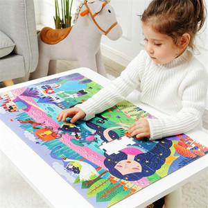 Çocuklar Büyük Puzzle Seti 100+ adet Bebek Oyuncakları Dinozor Çocuk Hediyesi için Masal Eğitici Oyuncaklar