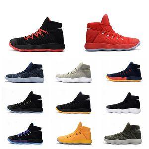 Zapatos para hombre del baloncesto Hyperdunk HD2017 al por mayor zapatos del diseñador Deportes zapatillas de deporte para hombre de la zapatilla de deporte de los hombres del hombre atlético Hyperdunk mosca Chaussure tejer