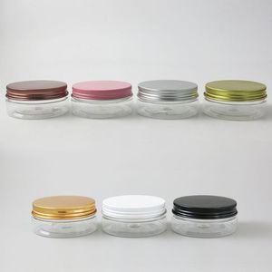 30pcs Пустой Clear Plastic Jar 50г 50мл 50cc Контейнеры для косметики Лосьоны Скрабы для тела Бальзамы Крем Sample Пот баночках Бутылки