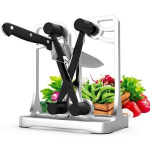 Afilador de cuchillos de cocina del cuchillo Sacapuntas Abrillantadores dentadas biseladas Cuchillas Chef Cuchillos Afiladores Herramientas de la cocina Gadgets de cocina