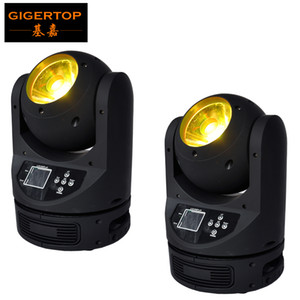 TIPTOP 2XLOT Mini 60W Super Beam Led Moving Light DMX 18Channels RGBW Color Mixing 130W Power Consumption Beam Scanner Ayrton MagicDot-R