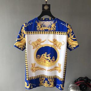 Primavera 19ss Nova Moda Chegada Tees Tiger Impressão Real Tee camiseta para homens dos homens de design da marca t-shirt de algodão famoso tee