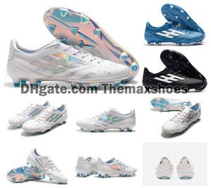2019 x 99 19,1 FG F50 Súper zapatos de fútbol para hombre de luz blanca brillante cian choque rosa caliente del fútbol botas A Limited Edition grapas del tamaño de los EEUU 6.5-11