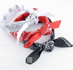 55 * 55 cm Paisley Bandana Başkanı Wrap eşarp Bileklik sihirli kafa Hip Hop çok fonksiyonlu Bileklik başörtüsü