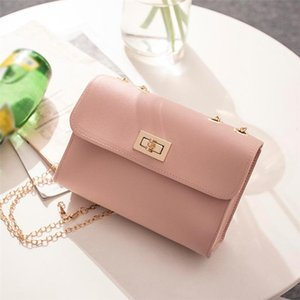 British Fashion Shoulder Simple Small Square Bag Women's Designer Handbag Pu Chain Mobile Phone Shoulder Bags Bolsas De Mujer