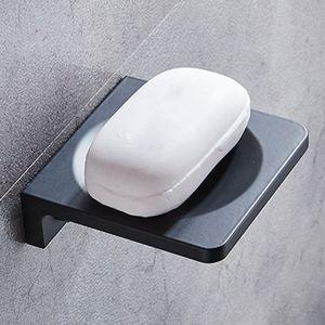 يعلق على الحائط السلطانية نوع الألومنيوم الفضاء الأسود صندوق الصابون اكسسوارات الحمام الصابون المنتج حامل