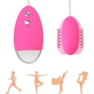 HugMee Brinquedos Para Adultos Ovo Vibrador 12 Frequência Duplo salto Egg Female G Spot Vibrator Massage Masturbação AV Brinquedos C0036