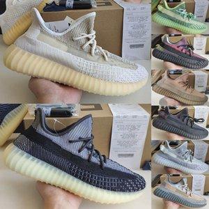 2020 Kanye West Hommes Chaussures de course Femmes Sport Chaussures Abez Asriel Soufre Israfil Yecheil Yeezreel Lundmark statique V2 réfléchissant Taille 36-48