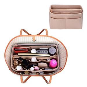 Войлок Ткань сумки Вставьте мешок для макияжа Организатор путешествий Портативный Косметические сумки сумка для хранения Внутренний кошелек Приступы в Speedy Neverfull