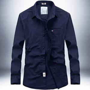 2019 Herbst Mann Freizeit Langarm Hemd Oxford Spinning Shirt Wird Code aus reiner Baumwolle 1678