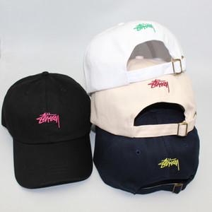 Популярная марка Бейсболки для Мужчины Женщины Вышитые Короткие карнизов Soft Top Болл Cap Пары Hip Hop Sun Street Hat