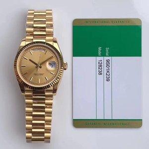 5 estilo Dial Luxury Watch EW Factory Melhor Qualidade 36mm 128238 Nova Calça V2 CAL. 3255 Movimento automático ETA Mergulho Natação Mens Relógios