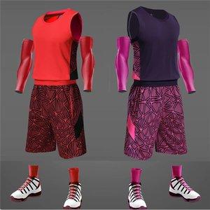 Basketball Serve Suit Male Printed Number Hip Hop Jersey Dunk Ace Ball Serve Enlarge Code Athletic Wear