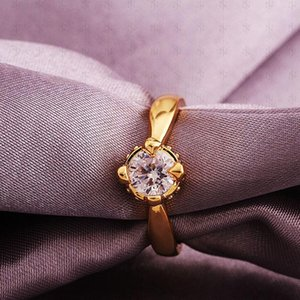 Драгоценный камень Кольца с бриллиантами Обручальные кольца Мода Красиво Ювелирный Бренд Кристалл 18 К Позолоченные Свадебные Кристалл Бриллиантовые Кольца