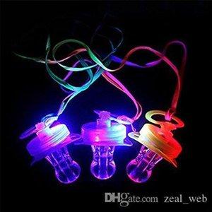 2020 yeni LED emziği Düdük Yanıp sönen LED emziği kolye kolye Yumuşak Işık Up Oyuncak Parlayan RGB Stil 4 Renkler Blister Ambalaj