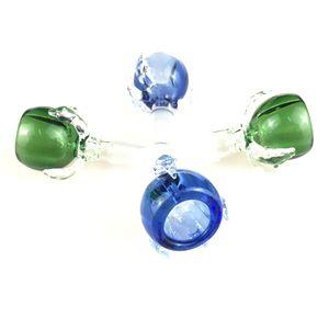 Nuevo estilo popular 14mm 18mm Dragon claw Cuencos de vidrio con cuencos de vidrio macho azul / verde para tuberías de agua Plataformas de aceite Bongs de vidrio
