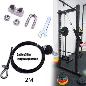 Fitness DIY Pulley Kabelbefestigung Heavy Duty Stahldrahtseil für Triceps Schulter Workout Fitness Triceps Strap Gym Ausrüstungen