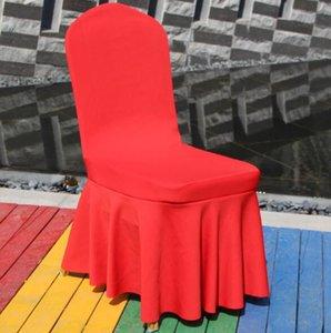 Elastik Spandex Sandalye Düğünler Parti Ziyafet Otel Polyester Kumaş Koltuk Kapak Yemek Etek Universal Kapaklar