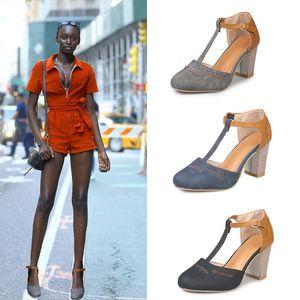 Pop2019 Sandals Woman Will Soulagement de la bouche peu profonde, chaussures à talons hauts
