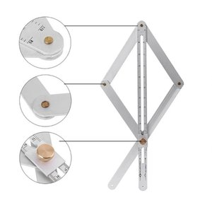 Dobre regra flexível Carpenter Tools Combinação Praça Ângulo régua transferidor Multi-Function ferramenta de medição Para Marcenaria 40DC12