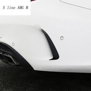 Car Styling fibra de carbono corpo Rear Side Espelho de Luz Nevoeiro adesivo cobrir guarnição Para C Class W205 C180 C200 Acessórios